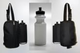 Satteltasche mit einer Trinkflasche