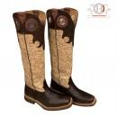 Hanton Cavalier Boots Braun Croco Glitzer