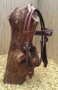 Headstall with cowhide details