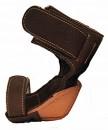 Cattleman's - Leder Skid Boots mit Klettverschluss