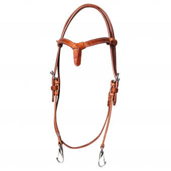 TRAINER'S HEADSTALL MIT SNAP