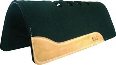 Won Pad Flex Vent - 1 Inch (2,54cm) - Schwarz mit Lederbesatz