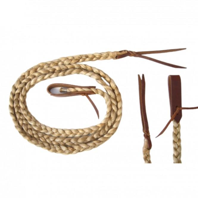 Bamboo Roping Reins - Flat Braided