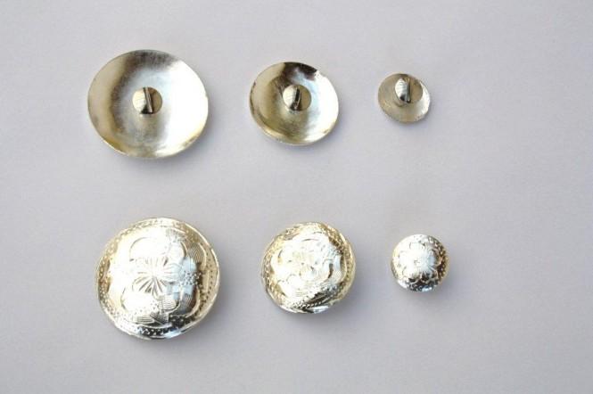 Concho - graviert mit Schraube - 3 versch. Durchmesser 1 1/2 Inch= 4 cm
