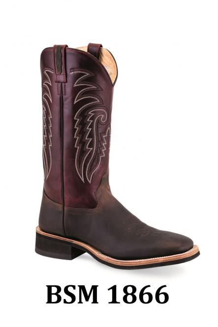Broad Square Toe Boots Men