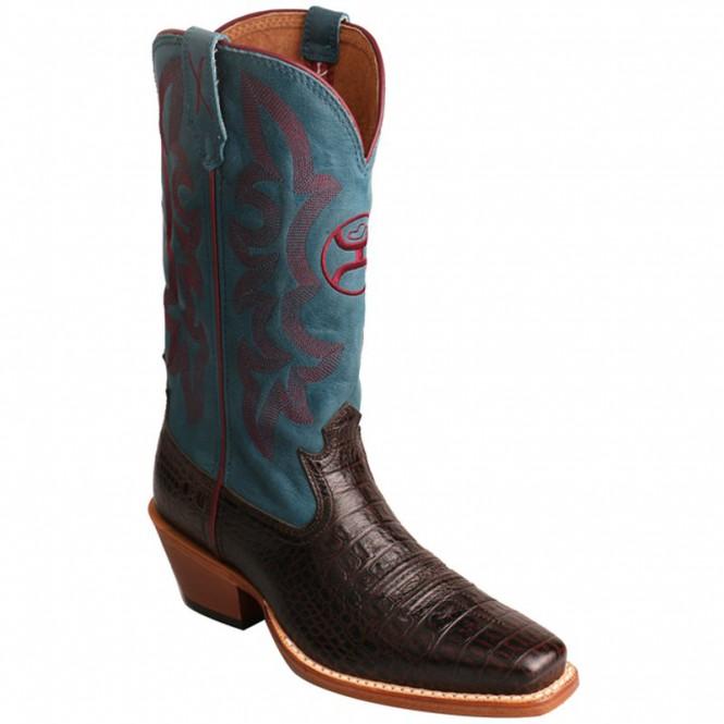 Twisted X Women's Hooey Boot Coffee/blue